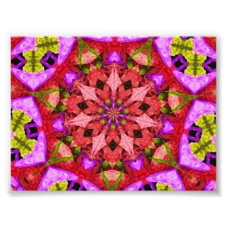 Mandala roja y púrpura del caleidoscopio fotografía