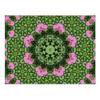 Mandala rosada acodada de Lotus Postales