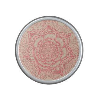 Mandala rosada altavoz bluetooth