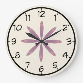 Mandala rosada del caleidoscopio de la flor de la reloj redondo grande