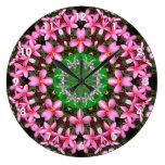 Mandala rosada del Plumeria Relojes