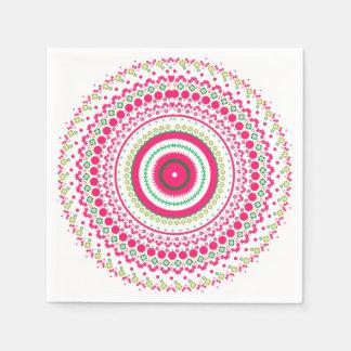 Mandala rosada servilleta desechable