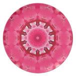 Mandala Rose Plates