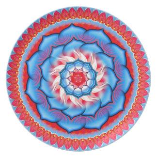 Mandala Rosette Dinner Plate