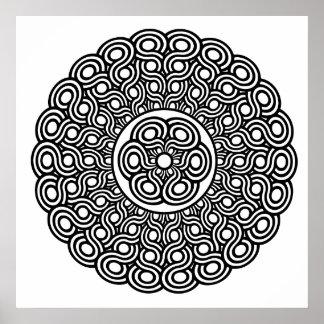 mandala round design poster