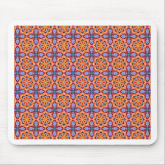 Mandala RR1 Pattern - Orange Blue Purple Mandala Mouse Pad