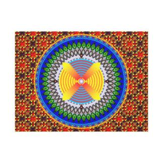 Mandala Sacrifício Impressão De Canvas Envolvida