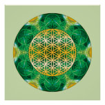 Mandala sagrada 1 de la geometría posters