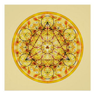 Mandala sagrada 2 de la geometría póster
