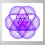 Mandala sagrada de la geometría - el modelo de la  posters
