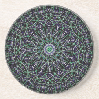 Mandala sagrada de la geometría posavaso para bebida