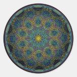 Mandala sagrada de la geometría: Sinceridad - mano Pegatinas Redondas