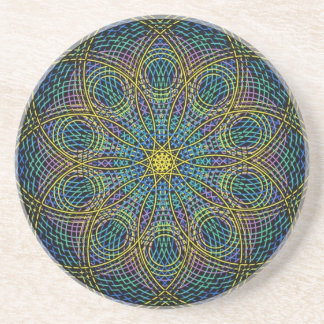 Mandala sagrada de la geometría: Sinceridad - mano Posavasos Personalizados