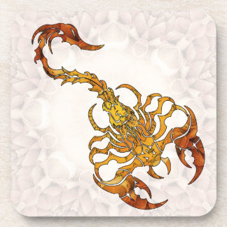 Mandala Scorpion 01 Beverage Coaster
