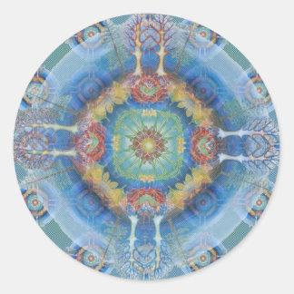 Mandala Sequence Classic Round Sticker