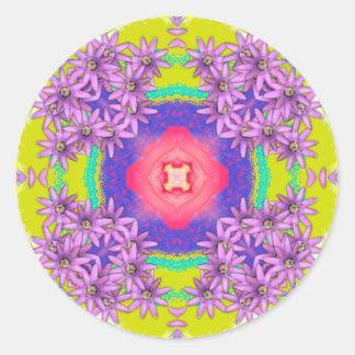 Mandala Series - Passion Flower Classic Round Sticker