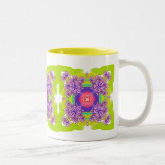 Mandala Series - Passion Flower Two-Tone Coffee Mug