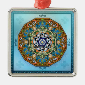 Mandala Shalom Metal Ornament