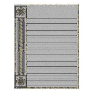 Mandala Silver Edge Lined Letterhead