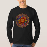 Mandala simbólica de Sun del oro Camisas