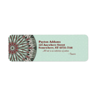 Mandala simple de la belleza - etiqueta del remite etiquetas de remite