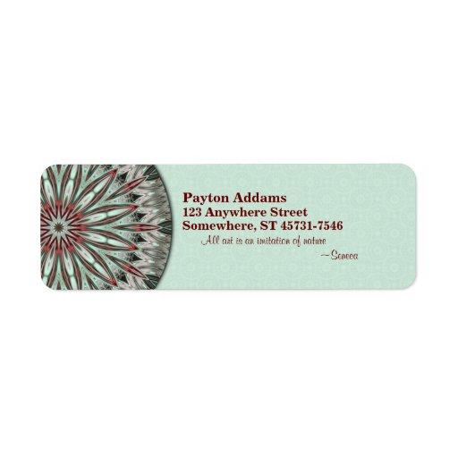 Mandala simple de la belleza - etiqueta del remite etiqueta de remitente
