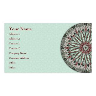 Mandala simple de la belleza - tarjeta de visita