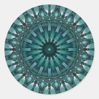 Mandala Sociability designed by Tutti Classic Round Sticker