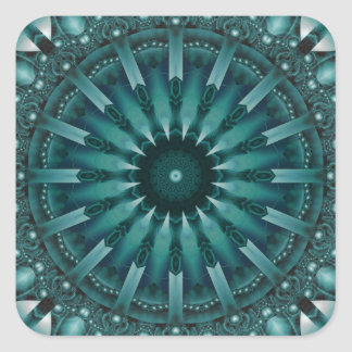 Mandala Sociability designed by Tutti Square Sticker