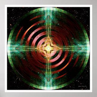 Mandala solar 8 póster