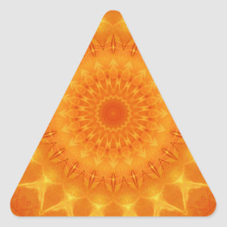 Mandala source of life designed by Tutti Triangle Sticker