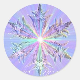 Mandala Sparkle Glitter Snowflake Crystal Art Classic Round Sticker