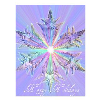 Mandala Sparkle Glitter Snowflake Crystal Art Postcards