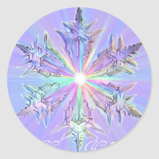 Mandala Sparkle Glitter Snowflake Crystal Art Stickers