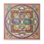 Mandala square tiles