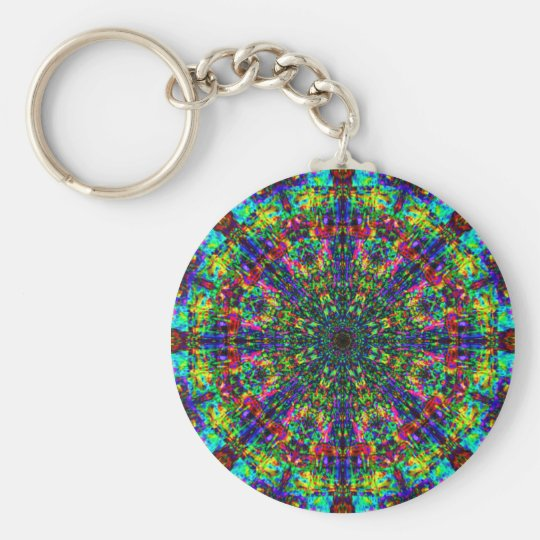 Mandala Stained Glass: keychain