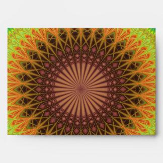 Mandala star circle envelope