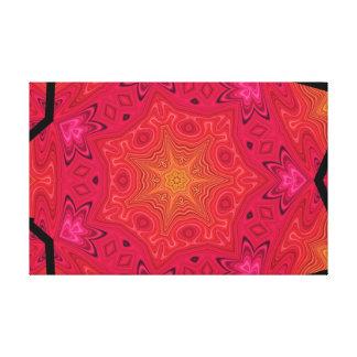 Mandala Star in Pink, Orange, and Yellow Canvas Print