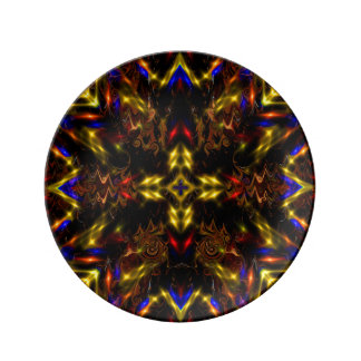Mandala Stars Light Decorative Porcelain Plate