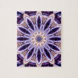 Mandala Stern lila Jigsaw Puzzles