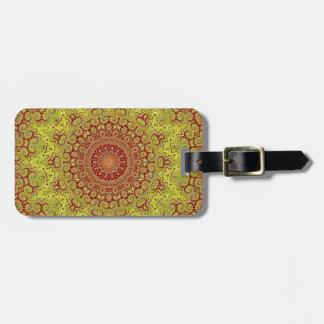 Mandala Style Luggage Tag