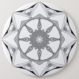 Mandala Style Pinback Button