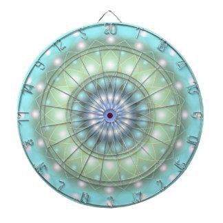 Mandala suave de la turquesa del tablero de dardo