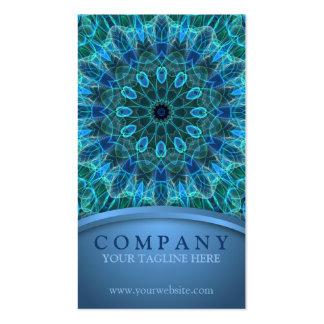 Mandala subacuática de la belleza tarjetas de visita