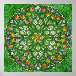 Mandala subió bosque póster