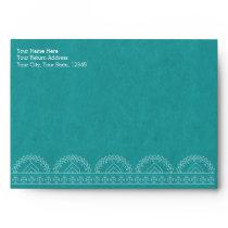 Mandala Summer Garden Chic Teal Green Envelope