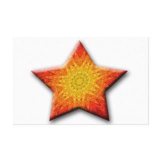 Mandala Sun Star Canvas Print