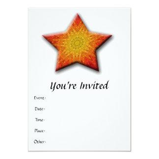 Mandala Sun Star Card