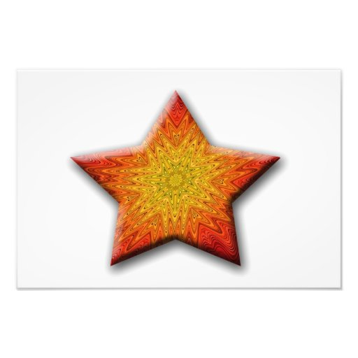 Mandala Sun Star Photographic Print