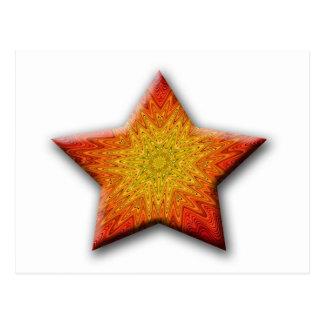 Mandala Sun Star Postcard
